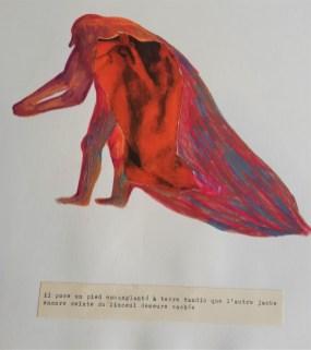 Pied-à-terre. Crayons de couleurs et collage. 30X40-cm