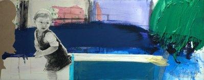 2009, Kosinska-Maslejak, La crainte (Obawa), 60x150 cm, technique mixte(Obietnica), 60x150 cm, technique mixte, Disponible à la Réserve