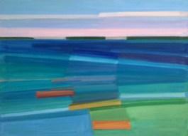 2017, Rasmussen, La mer II, 80x110 cm, huile sur toile