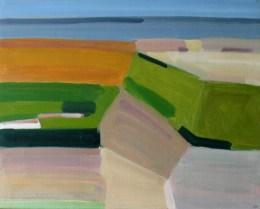 2016, Rasmussen, La plage II, 48x60 cm, huile sur toile