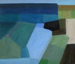 2015, Rasmussen, La plage, 95x110 cm, huile sur toile