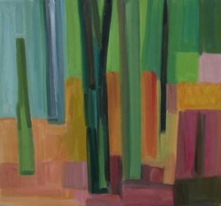 2015, Rasmussen, La forêt II, 60x65 cm, huile sur toile