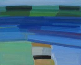 2017, Rasmussen, Le sund, 48x60 cm, huile sur toile