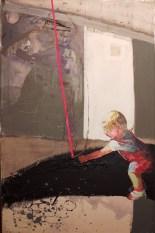 2010, Kosińska-Maslejak, Troska, Technique mixte sur toile, 140x90 cm, Disponible à la galerie