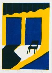2009, Petersdorff, Bühne, Gravure sur bois, 15x10 cm, Disponible à la réserve de la galerie