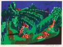 2011, Petersdorff, Weinfeld, Gravure sur bois, 15x21 cm, Disponible à la réserve de la galerie
