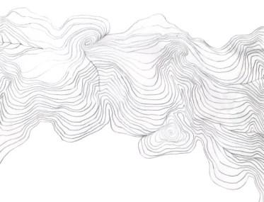 Vibracije mirnoće / Vibration of Stillness / Vibration der Stille - Lena Franolić 2009, 10 x 15 cm, crtež u olovci / pencil drawing / Bleistift Zeichnung