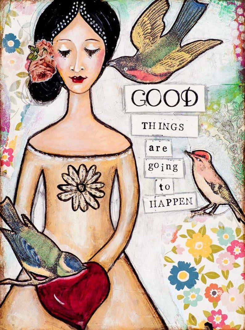 slika GOOD THINGS - lady art talk
