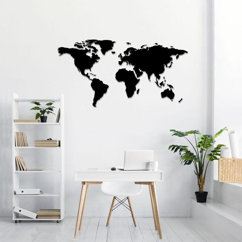 Leseni zemljevid sveta_GALERIJA KREATIVNIH_galerijakreativnih.si - SLAVEC-PRO_Leseni zemljevid sveta-.
