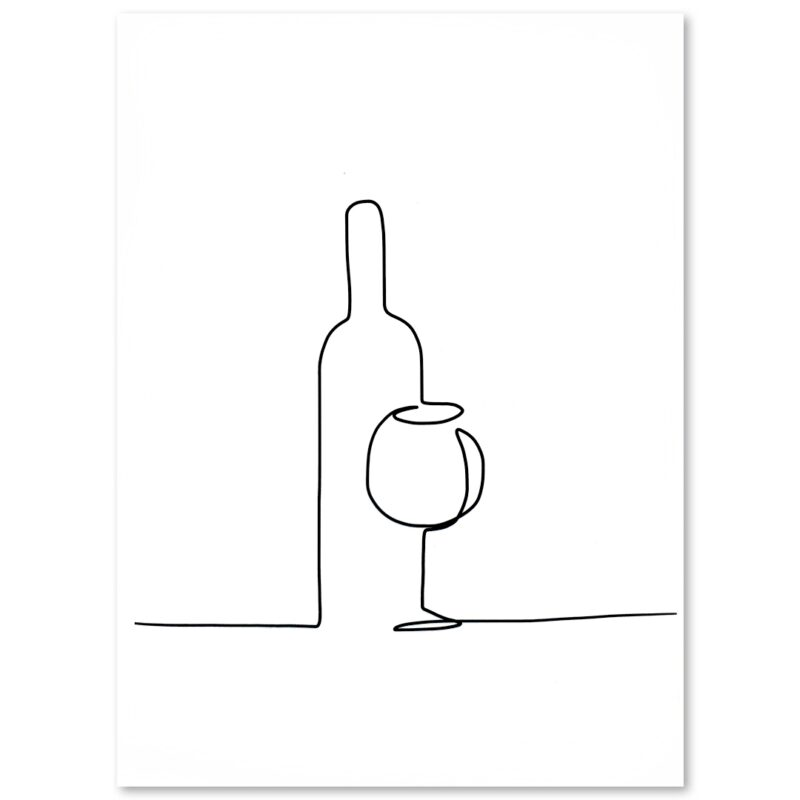 "PLAKAT ""wine"" CARTSY FARTSY"