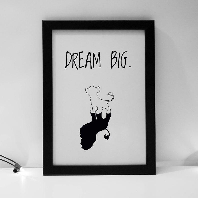 "PLAKAT ""DREAM BIG"" CARTSY FARTSY"