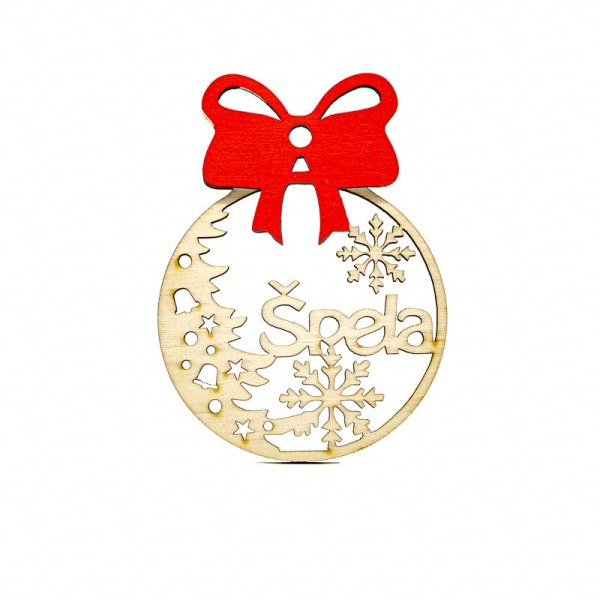 Leseni božični okrasek Špela@galerijakreativnih.si-hedl