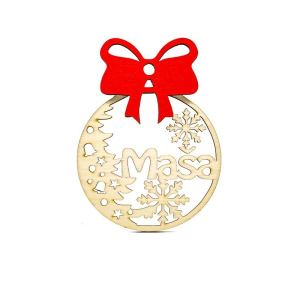 Leseni božični okrasek Maša@galerijakreativnih.si-hedl