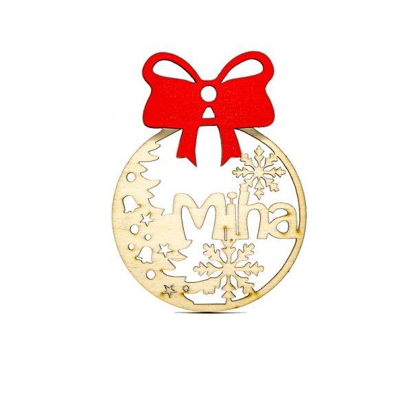 Leseni božični okrasek Miha@galerijakreativnih.si-hedl