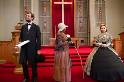 Actors as Abraham Lincoln, Harriet Tubman, and Mary Todd Lincoln