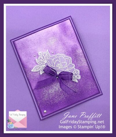 Purple Passion and So Much Love Card