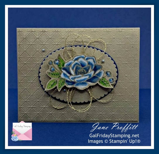 So Much Love and the Dainty Diamond embossing folder was used to create today's card.  These two products are retiring with the Annual Catalog.