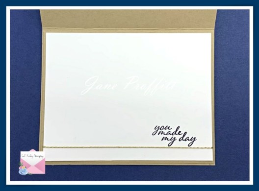 Don't forget the inside of the card and pull elements from the front of the card.