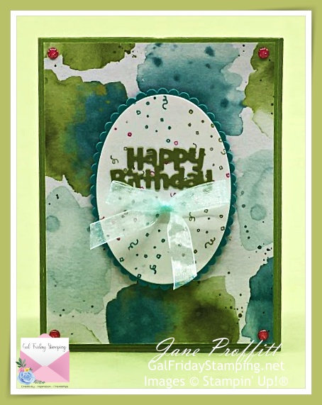 Happy Birthday Chick stamp set with the Ice Cream Corner designer series paper.  This is a fun twist and pop card also using Hey Chick