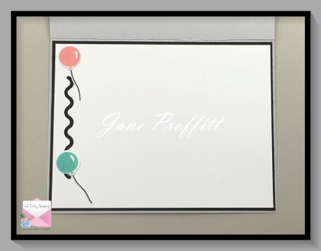 Don't forget the inside of your card and try to pull elements from the front of the card for the inside.