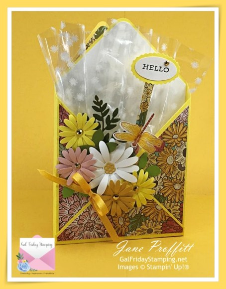 Decorated envelope for any occasion.  Using bright Spring colors and Ornate Garden Specialty Paper