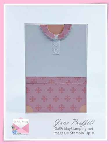 Such a sweet little girl card using the Handsomely Suited Suite from Stampin' Up!