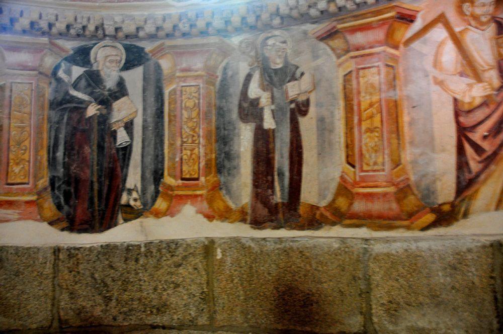 Pinturas. Interior Iglesia. Santa Cristina de Ribas de Sil