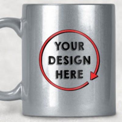 Silver Sparkle Mugs