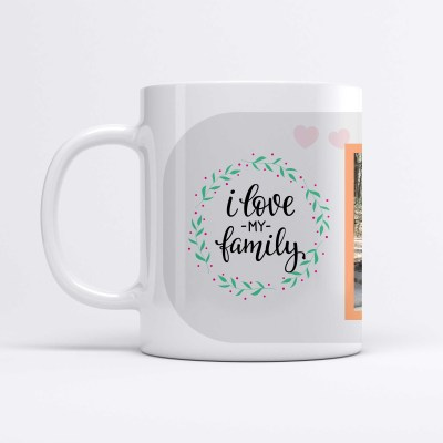 Personalized mug with family picture