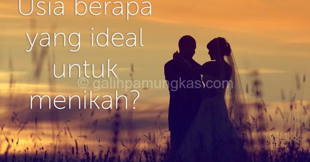 Usia Yang Ideal Untuk Menikah