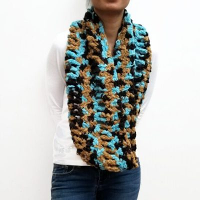 Brown/Turquoise RUTH Scarf Vone Kevitz