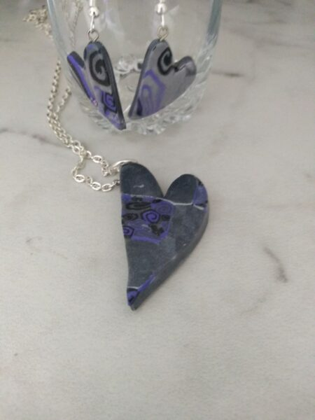 Purple Mica Heart set