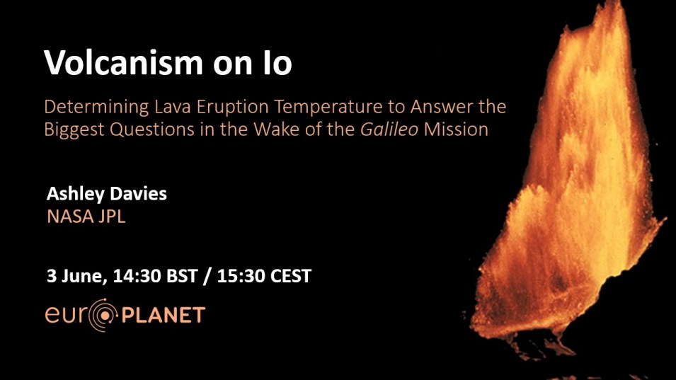 Europlanet Webinar 03 June 2019 - Volcanism on Io Banner