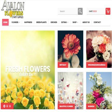 Avalon Flowers website example