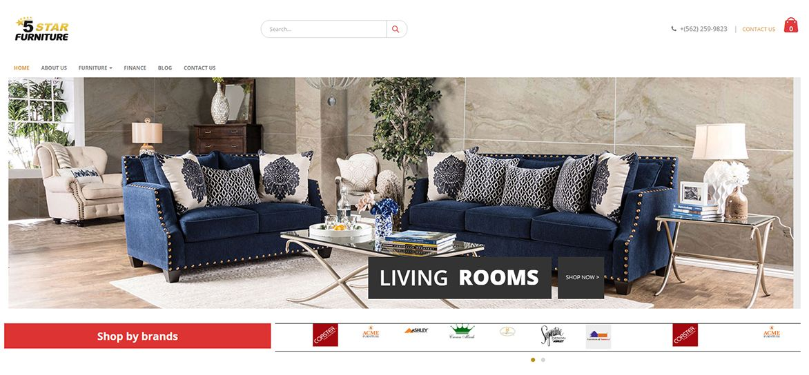 furniture5star website example