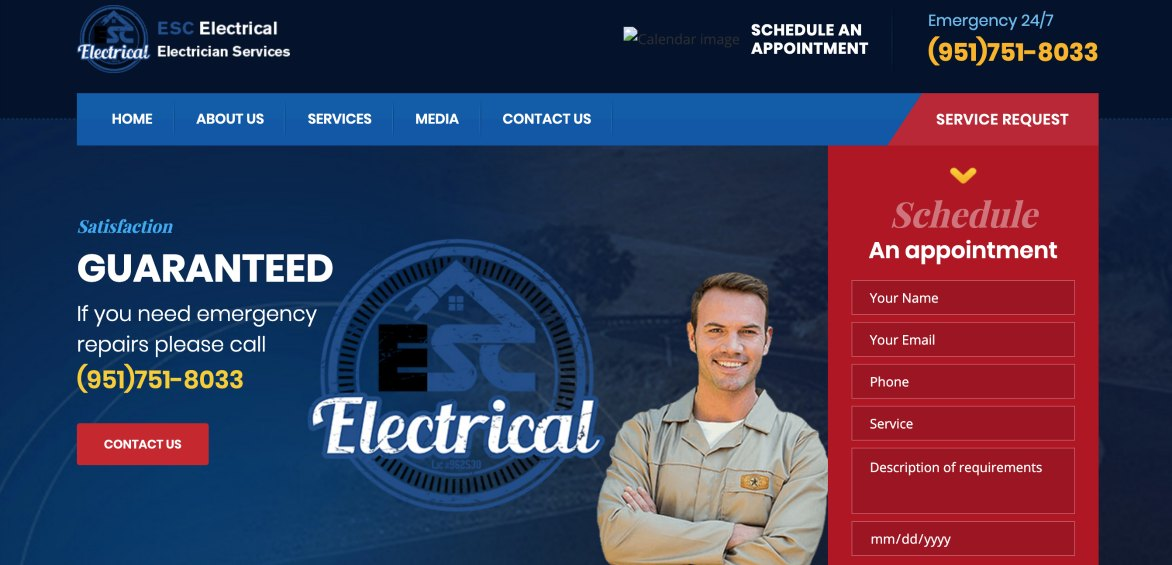 ESC Website example