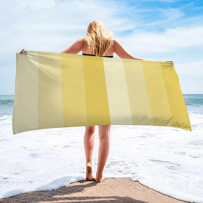 gradient yellow beach towel