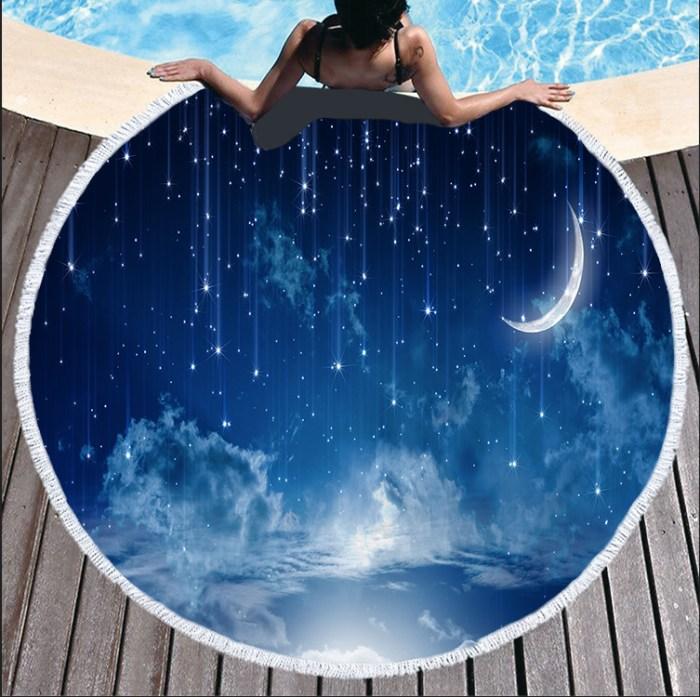 dim moonlight beach towel
