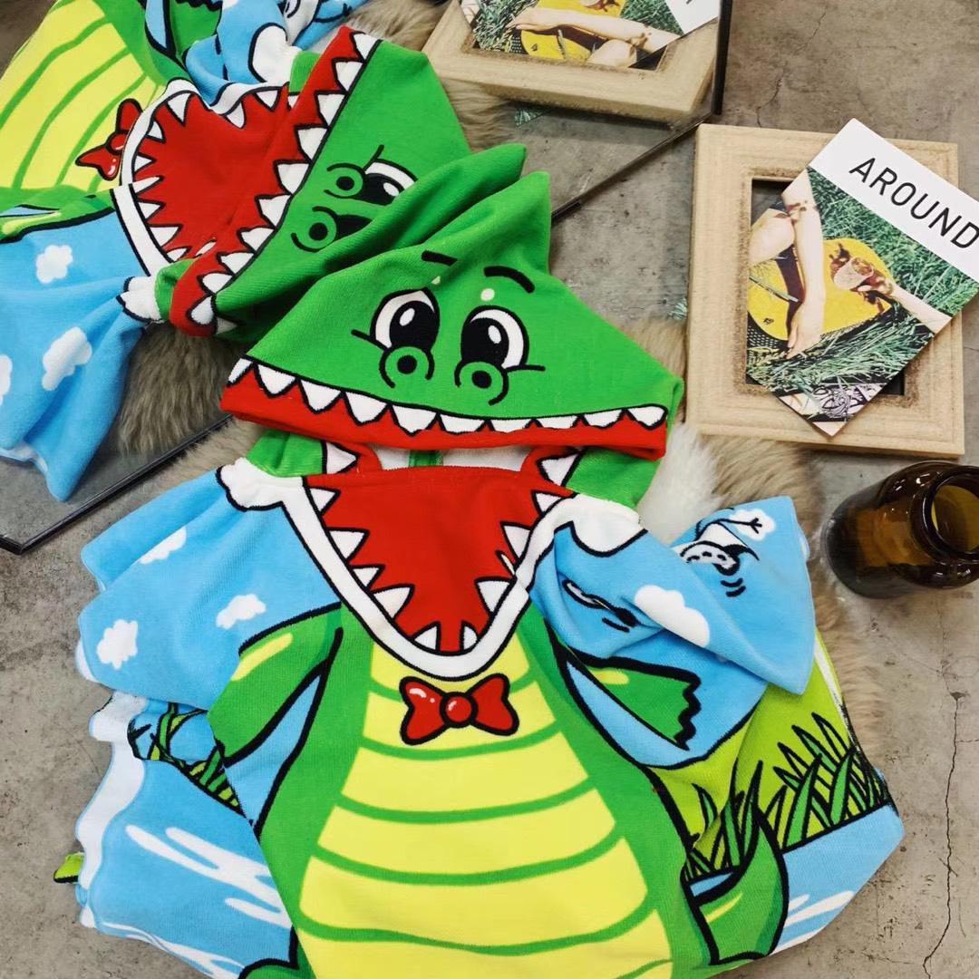 crocodile beach towel