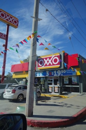 The Oxxo chain of convenience stores has thousands of stores, often a block from one another.