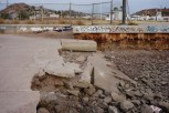 This damage to the waterfront near Fonatur Marina may have been a result of torrential rains following a storm in ?2010.