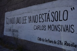 The Club de Lectura has posted aphorisms like this throughout the town.