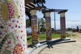 Mosaic columns mirador