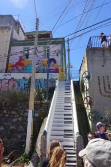 Keyboard stairway