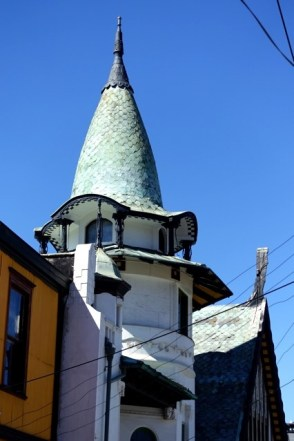 Green steeple with eyebrows