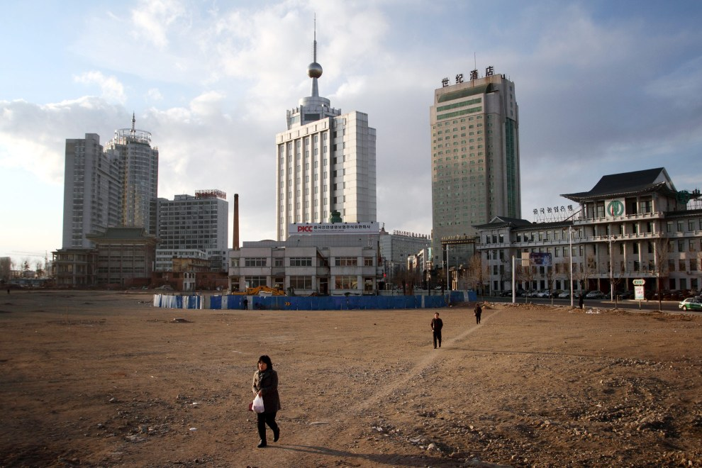 Outskirts of the town of Yanji, close to the border with North Korea. The town is part of the Korean Autonomous Prefecture in the north-east of the country.