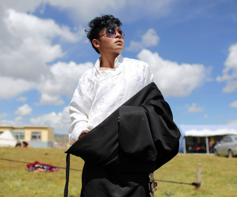A young modern Tibetan nomad in the Amdo region of the Tibetan Plateau.