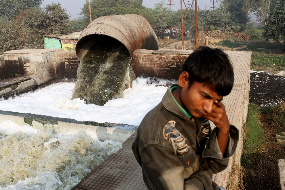 Everyday, 50 million litres of highly toxic waste water is generated by the tanneries of Kanpur.