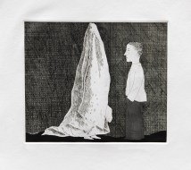 Hockney - The Sexton Disguised as a Ghost, Etching with aquatint, 23 x 26.8cm