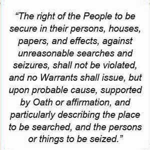 The right of the people to be secure in their persons, houses, papers, and effects, against unreasonable searches and seizures, shall not be violated